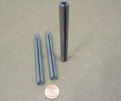 """Zinc Plate Steel Slotted Roll Spring Pin, 3/8"""" Dia x 3 1/2"""" Length, 20 pcs 10"""