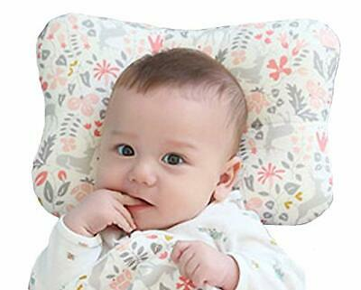 Cotton Baby Infant Newborn Pillow Flat Head Sleeping Support Prevent Breathable 2