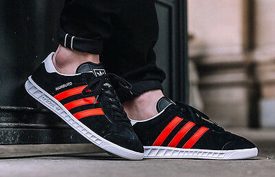 new style c032a fe550 ... 5 of 9 Adidas Hamburg ++++ RARE++++ 12 BLACK SUEDE  RED STRIPE NEW  spezial samba