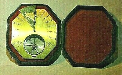 Antique French Brass Cased Pocket Sundial, circa 18th Century 9
