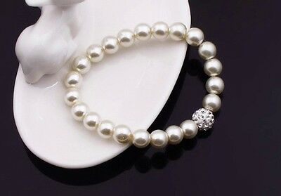 Bridesmaid Jewelry Set, Wedding Jewellery, Pearls, Necklace, Bracelet Earrings 3