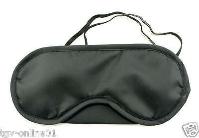 Travel Eye Mask, Sleep Sleeping Cover Rest Eyepatch Blindfold (Black) New 2