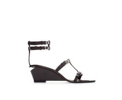 Sandales Noir Vamp T Brides Semi Multi 38 Compensée Semelle Chic Zara Gladiators W9YD2HEI