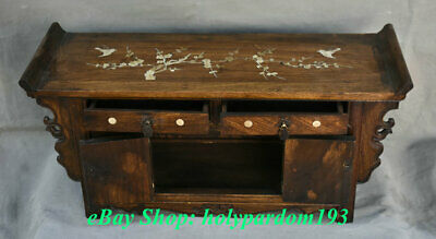 """23"""" Old Chinese Huanghuali Wood Dynasty Drawer Classical Cupboard Cabinet Desk 9"""