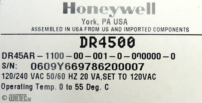 Honeywell DR4500 Truline digitaler Kreisblattschreiber Recorder