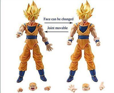 """Dragon Ball Z 5"""" Figures x 6: Piccolo Cell Trunks Super Saiyan Goku Gohan Vegeta"""