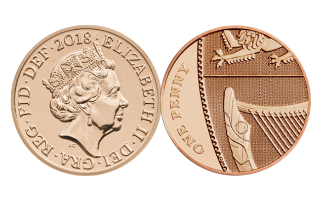 2017 2018 2019 1p coin one pence penny Shield Royal Mint Brilliant Uncirculated 2