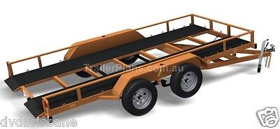 Trailer Plans - TILT FLATBED CAR TRAILER PLANS (14x6ft) - 2500kg - PLANS ON USB 9