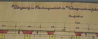Original Anbauplan Werkzeugmaschinenfabrik F.X Honer in Ravensburg ~ 1900  /S196 3