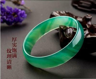 100%Natural green Jade Bangle Bracelet beautiful Jadeite Bangle 58mm-64mm free 6