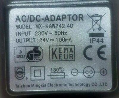 LED Steckernetzteil 0,1A 24V AC-DC runder Stecker 220V Netzteil IP44 Gartenlampe 2