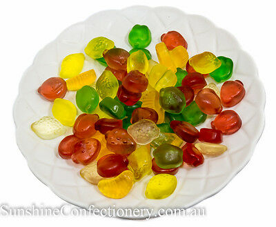 SUGAR FREE LOLLIES - 1kg - FRUIT MIX JELLIES-Bulk Sweets & Jellies Post Included