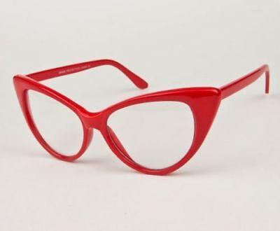 c4e7e0c435 ... Hot Kitten Cat Eye Sexy Nikita Retro Pin UP Big Clear Eyeglasses Frames  1377 L 3