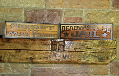 Western Home Decor Rustic Old West Style Signs Personalized Custom Carved Wood 5