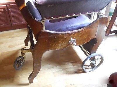 antigua silla de , médico, para clínica . Pieza rarísima de museo. Luneville. 3