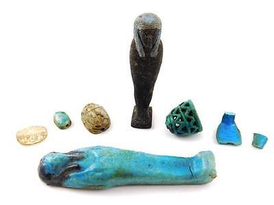 Small collection of Egyptian artifacts, seven pieces: two ushabti or ... Lot 283 2