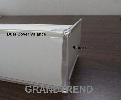 Vertical Blind Dust Cover L Valance Return Corner Adapter Qty 4 6