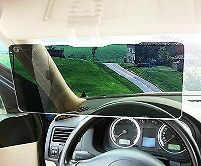 ... Zone Tech Clear View Sun Visor Extender Extension Ray Protection Tinted  Car Rv s 4 3cb0c634051