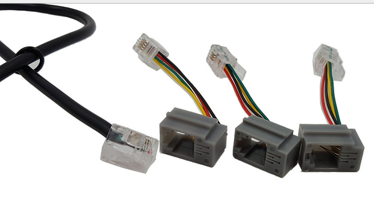 RJ9 RJ10 TO 3.5mm Female Headset Adapter Cable Stereo Converter ...