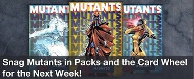 Topps Marvel Collect Card Trader Mutants Blue Complete Set of 9 w/ Magento Award 2