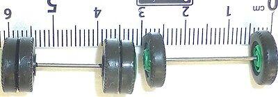 100 x Radsatz 29mm Achsbreite rot Felge Plastik Herpa Albedo 1:87 R157  å  *