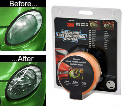 3M Headlight Restoration Kit - Polish your headlamps or lens with a drill - UK 4