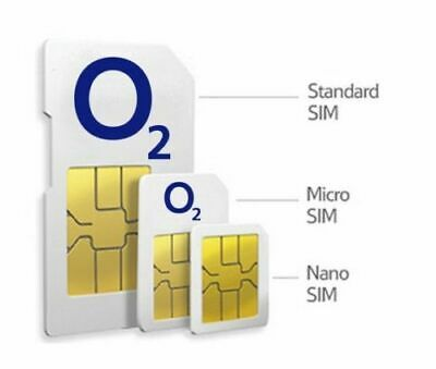 O2 Classic Sim Card  2G/3G/4G Pay As You Go  Standard Micro Nano 8