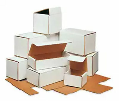 WHITE CORRUGATED MAILERS MANY SIZES 50 100 200 Shipping Packing Boxes Mailers 3