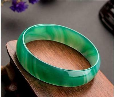 100%Natural green Jade Bangle Bracelet beautiful Jadeite Bangle 58mm-64mm free 4