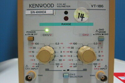 Kenwood VT-186 2-Channel AC Voltmeter, 0.3mV-100V 2