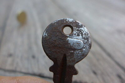 Antique / Vintage Padlock with one working key heavy unique design 5