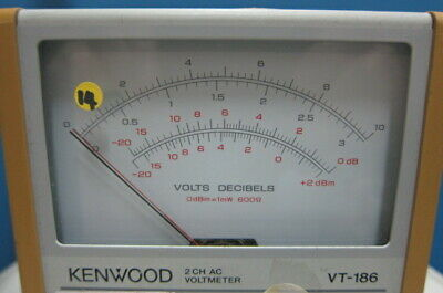 Kenwood VT-186 2-Channel AC Voltmeter, 0.3mV-100V 3