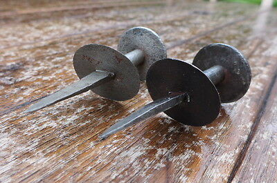 Vintage / antique hand made by blacksmith 2x knobs, perfect for project, farm. 3