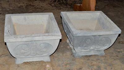 Concrete Planters, Pair Lot 213 2