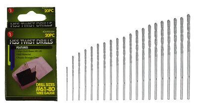 20 Pc Micro HSS Metric Mini Twist Drills /& Archimedean Drill 0-1mm PCB M9108