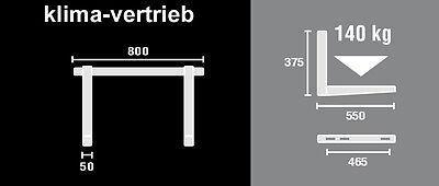 Wandkonsole Halterung Wärmepumpe Klimagerät Klimaanlage 140 kg MTMS253
