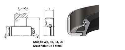 Rotary shaft oil seal 35 x 47 x pack height, model