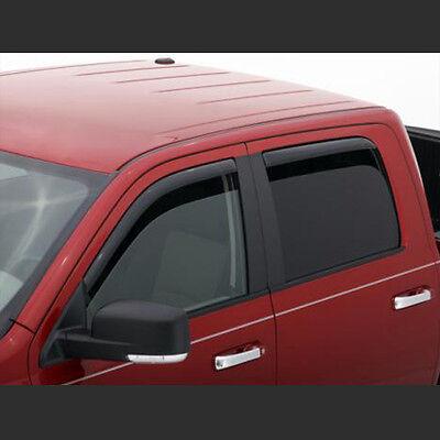 Tape-On Rain Guard Window Visor Dark Grey 4pcs For 2005-2010 Pontiac G6