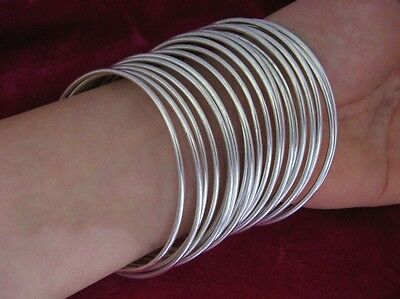 Vintage Style Handmade Miao Silver Smooth surface bracelet 10pcs 4