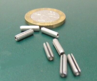 """Zinc Plate Steel Slotted Roll Spring Pin, 3/32"""" Dia x 3/8"""" Length,  500 pcs 10"""