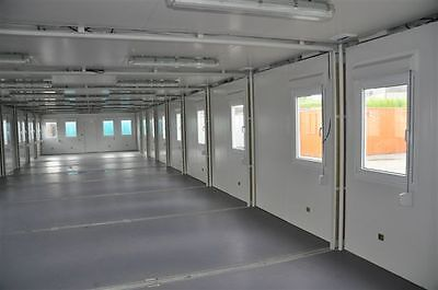 Portable Building Modular Office, 7 Bay 20' x 56' / 6m x 17.5m open plan office 6