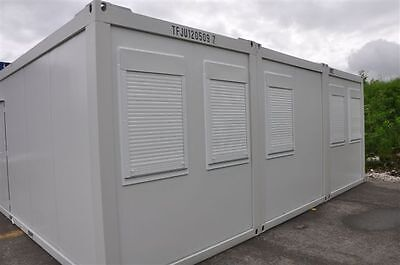 Portable Building New Modular Building 3 Bays 20' x 24' / 6m x 7.5m Site Office 5