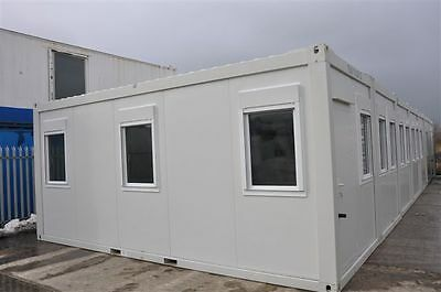 Portable Building Modular Office, 7 Bay 20' x 56' / 6m x 17.5m open plan office 2