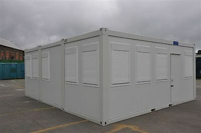 Portable Building New Modular Building 3 Bays 20' x 24' / 6m x 7.5m Site Office 6