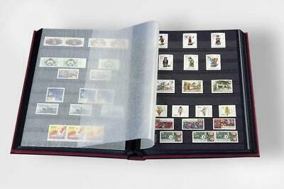 Lighthouse A4 Stamp Album Stockbook With 8 Black Pages 16 Sides Hardback Cover 2