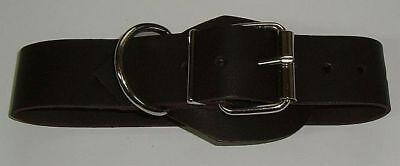 BDSM Lederriemen zusätzlicher D-Ring 5,0 cm mit Klemmschutz zweidrittel-Lochung 5