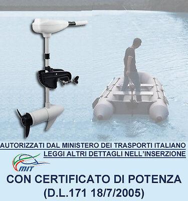 Motore Elettrico 46 Lbs Fuoribordo Per Barca Gommone Con Elica A Tre Pale Bianco