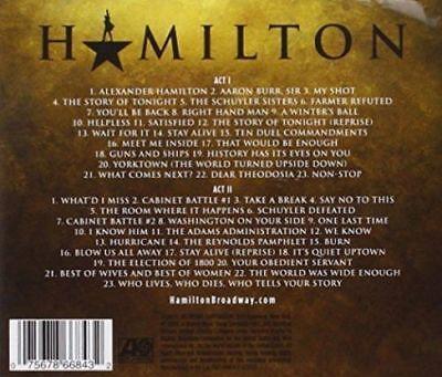 Hamilton An American Musical 2 Cd (2015) 2