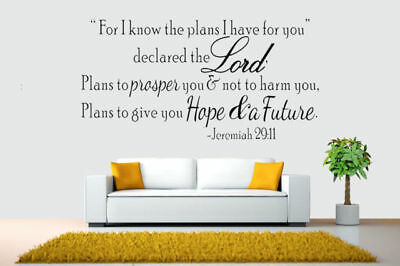 Bible Verse Wall Decals Christian Quote Vinyl Wall Art Stickers Scripture Decor 5