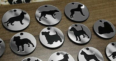 Trophy Silver Pet Dog Tag ID Name Personalised Engraved Cat Tags Collar Gift